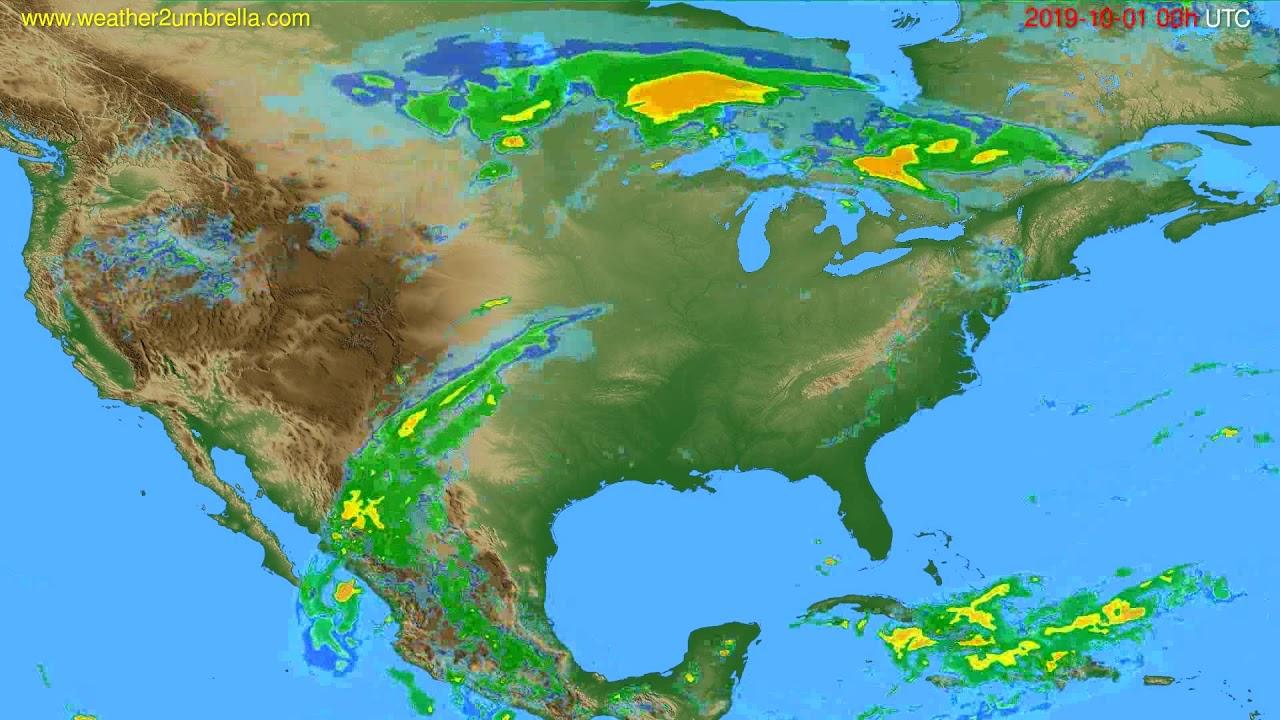 Radar forecast USA & Canada // modelrun: 12h UTC 2019-09-30