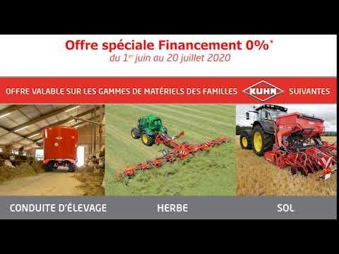 offre commerciale financement 0% matériel gamme élevage herbe sol kuhn sofimat finistère morbihan