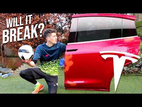 Can a FOOTBALL Break through a TESLA Window?