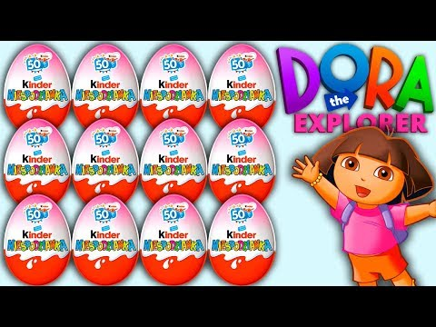 12 Surprise Eggs Dora The Explorer Kinder Surprise Twistheads Surprise Toys Dora 2018