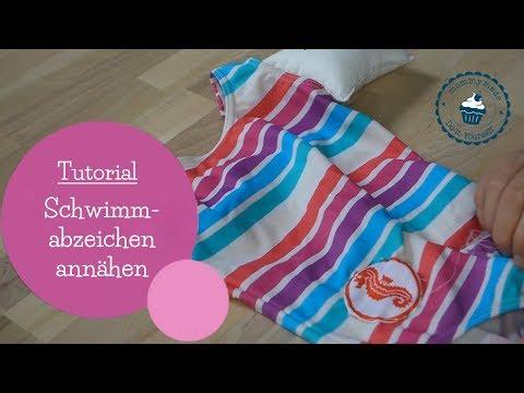 Seepferdchen Schwimmabzeichen anbringen | Seepferdchen annähen | DIY Nähanleitung | mommymade