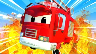 Car Patrol -  The Hospital Fire! - Car City ! Police Cars and fire Trucks for kids