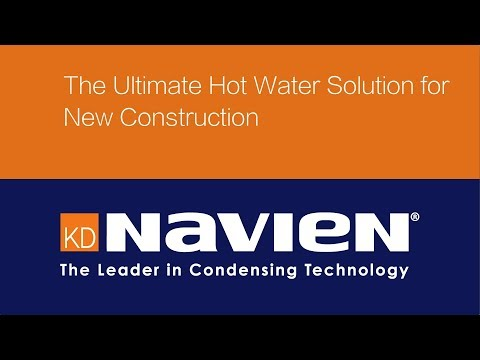 Navien condensing tankless water heaters provide the ultimate hot water solution for new construction.