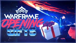 The Warframe community is TOO GENEROUS! (opening your gifts)