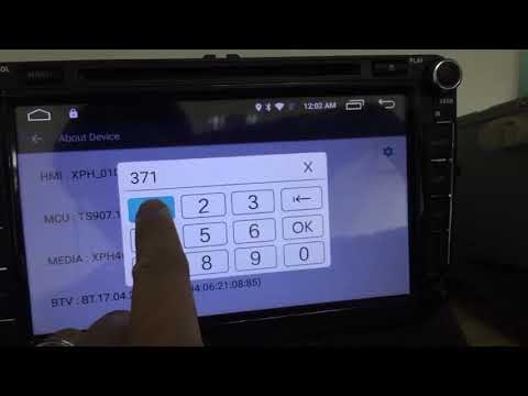 OTOJETA car dvd - how to enter the factory setting password 3711(W