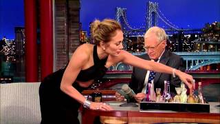 funny Jennifer Lopez | sprays David Letterman in the face with her perfume
