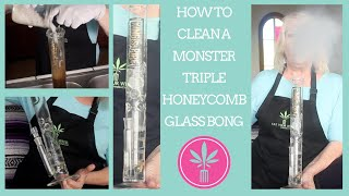 How to Clean a MONSTER Triple Honeycomb Glass Bong