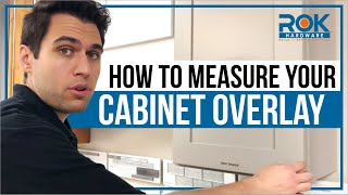 Replacing Hinges -  What is Cabinet Overlay and How to Measure It