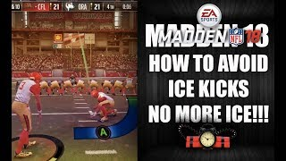 MADDEN 18 - NO MORE ICE KICKS - HOW TO AVOID BEING ICED - AVOID FG ICE