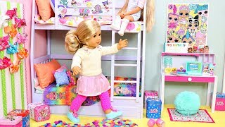 Bunk Bed Bedroom For Sisters With LOL Surprise Dolls