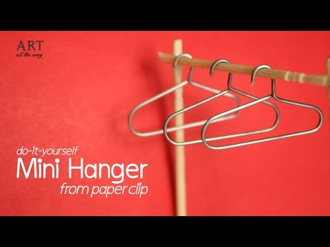 DIY: Mini Hanger from Paper Clip - For Miniature Wardrobe