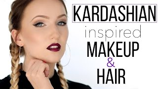 KARDASHIAN INSPIRED MAKEUP & HAIR TUTORIAL  TheBeauty2go