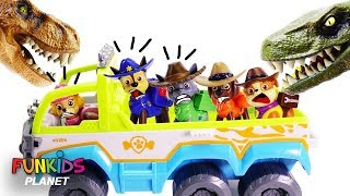 Learn Colors with Paw Patrol Dinosaur Park Skye Helps Rescue Pups & Rubble | Fun Kids Toys