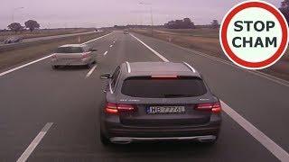 Pirat w Mercedesie blokuje, hamuje i zajeżdża drogę TIR-om  #90 Wasze Filmy