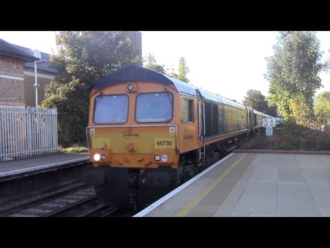 GBRf RHTT convoy with 66730, 66718, 66731, 66724 & 66729 pas…