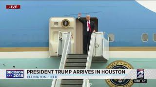 President Trump Arrives In Houston