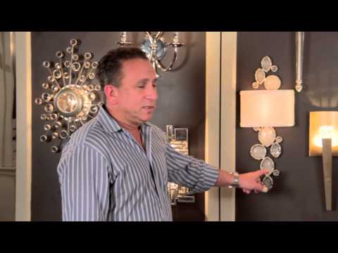 Video for Party Girl Silver Leaf One-Light Wall Sconce