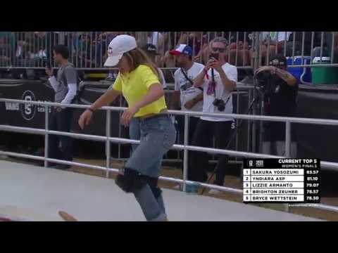 3rd Place - Brighton Zeuner: 80.37 | 2018 Sao Paulo, Brazil | Vans Park Series