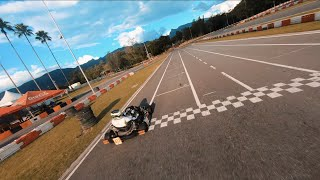 Chasing GoKarts with FPV Racing Drone