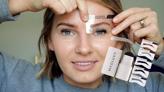 MADLUVV brow stamp review   *NEW* on AMAZON