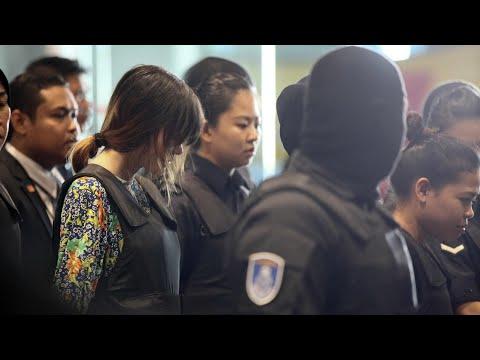Kim Jong-nam: women accused of murder tour airport where he was killed