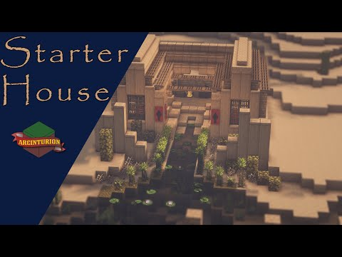 Egyptian Survival Starter Base Time Lapse And Tutorial Minecraft Map