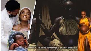 Beautiful Moment Bukunmi Oluwasina Sings For Her New Born Baby
