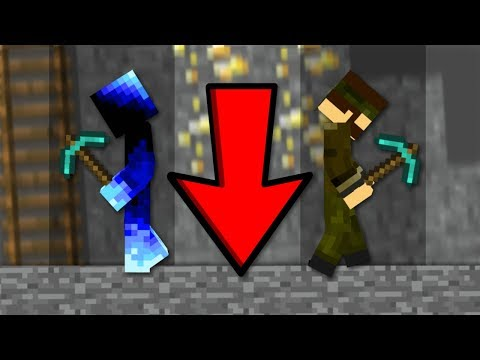 PEVNOST vs. IXAJR! (Minecraft Dig Down Challenge)