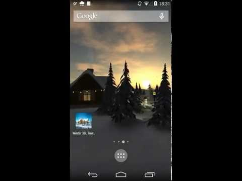 Winter 3D, True Weather Android - Free Download Winter 3D