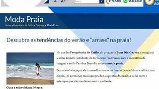 Dicas de moda praia no Programa Frequência de Estilo na Rede Gazeta