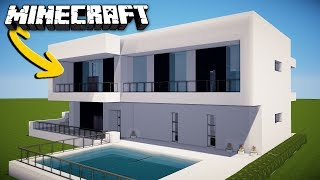 Minecraft How To Make A Modern House For Survival Home