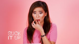 Brenda Song Reveals Who Her Fave Sprouse Twin Is In This Sour Candy Challenge | Suck It Up