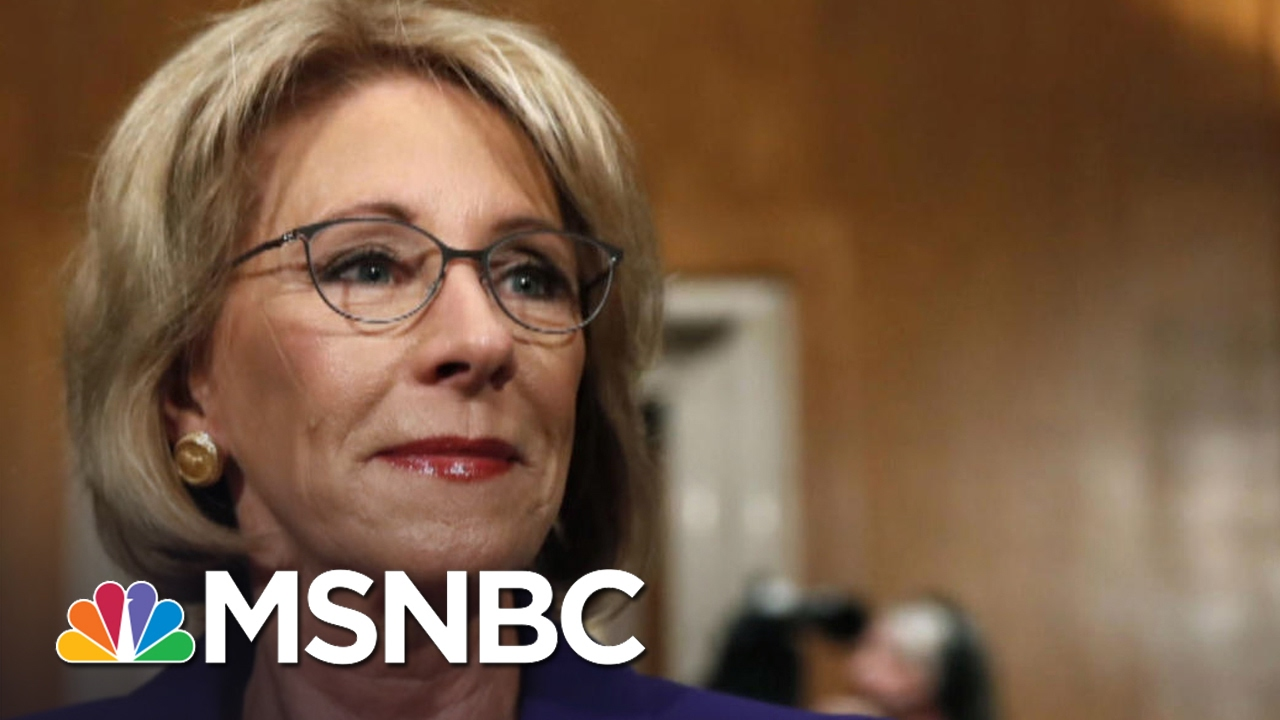 Vice President Mike Pence Breaks Betsy DeVos Senate Tie | Andrea Mitchell | MSNBC thumbnail