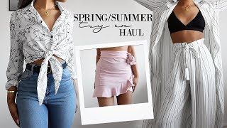 Spring/Summer Try On Clothing Haul - dooclip.me
