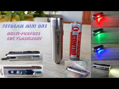 JETBeam Mini One - 500 Lumens - 5 Colors - Multi Purpose EDC Flashlight - Best Value 2020