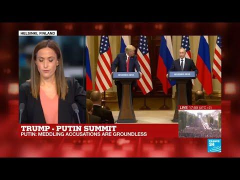 Trump-Putin summit: Putin says meddling accusations are ''nonsense''