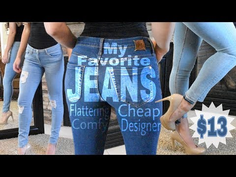 Flattering, Comfy, Cheap Designer Jeans Favorites + Try On