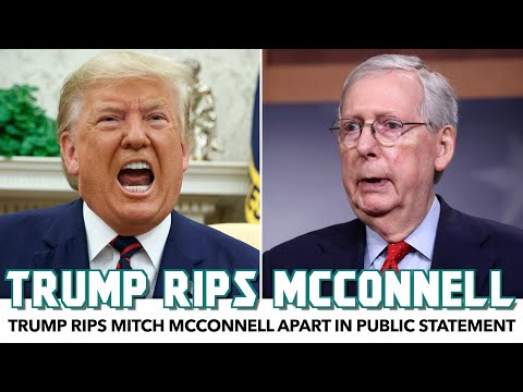 Trump Rips Mitch McConnell Apart In Public Statement