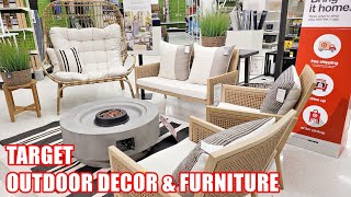 TARGET OUTDOOR DECOR AND FURNITURE SHOP WITH ME 2021 GARDEN PATIO HOME DECOR