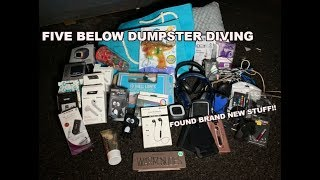 FIVE BELOW DUMPSTER DIVE HAUL WORTH HUNDREDS! FREE BLUETOOTH SPEAKERS, HEADPHONES, IPHONE CHARGERS!