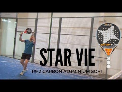 Pala de padel profesional. Auna control y potencia: Star Vie R9.2 Carbon Aluminiun Soft