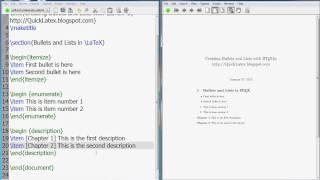 Latex Tutorial: Itemize, Enumerate, Description, and Inparaenum lists in latex