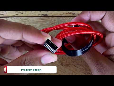 BlitzWolf BW MC1 2 4A Micro USB data cable Unboxing