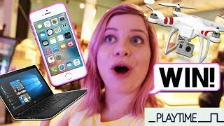 WIN EPIC PRIZES - iPHONE, DRONE & MORE!!! Playtime Arcades Vlog