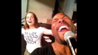 JoJo and Anthony Evans 'When You Believe'  Soundcheck