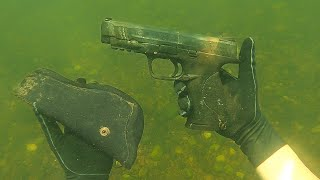 We Found A Pistol Underwater In The River! (SCUBA DIVING)