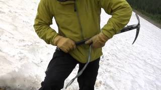 Climbing Tools: Snow walking with a ice axe