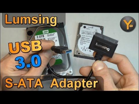 Kurztest: Lumsing S-ATA auf USB3.0 Adapter / Festplatten an USB anschließen