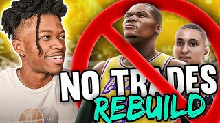 i tried to rebuild a team without making any trades in nba 2k22