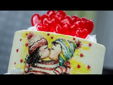 Мастер-класс приготовления торта на день влюбленных